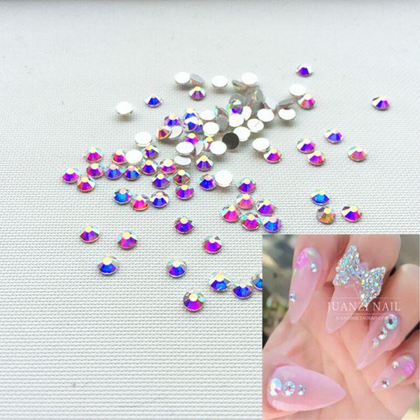 Wholesale- new arrive SS4 Crystal ab Nail Rhinestones,1440 pcs/bag Flat Back Non Hotfix Glitter Nail Stones,DIY 3d Nail Phones Decorations