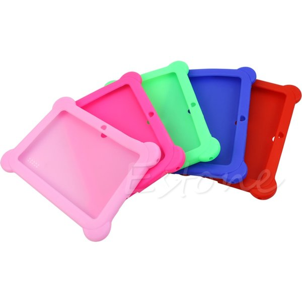 """Wholesale-Cute Silicone Soft Gel Case Cover For 7"""" Android A13 A23 Q88 Tablet PC Kids"""
