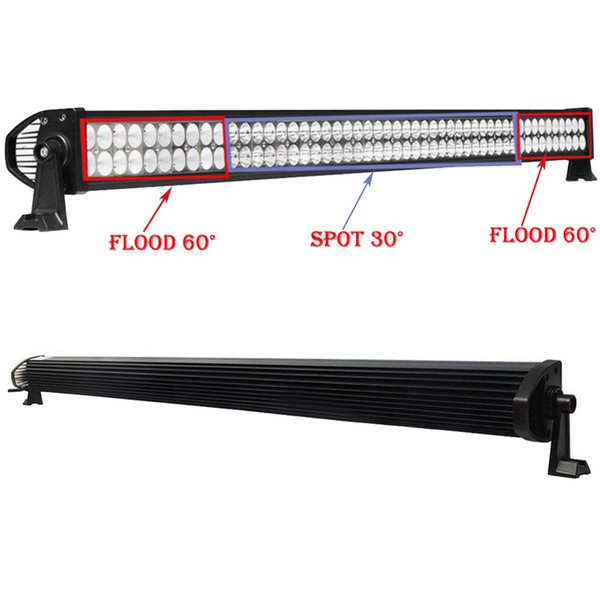 "52"" inch 400W Spot/Flood/Combo LED Work Driving Light Bar for Car Truck Boat Jeep Ford Trailer 4WD SUV ATV UTV UTE Off-road Vehicles 10-30V"