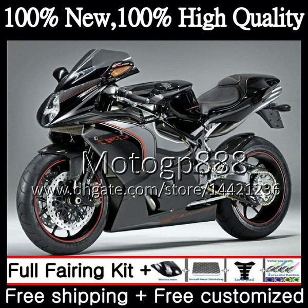 Body For MV Agusta F4 05 06 R312 750S 1000 R 750 1000CC Black silver 13PG10 1000R 312 1078 1+1 MA MV F4 2005 2006 05 06 Fairing Bodywork