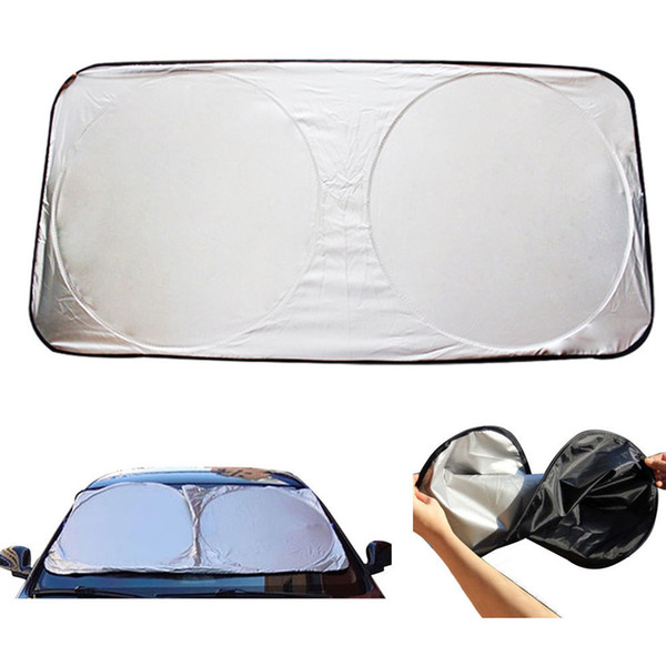 best selling New UV Protection Auto Car Front Rear Window Foldable Visor Sun Shade Windshield Cover Block CDE_005