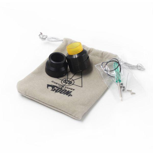 528 Goon LP RDA Low Profile Edition Atomizer Clone Vape con punta de goteo de gran calibre E Cigarettes fit mechanical mod DHl free