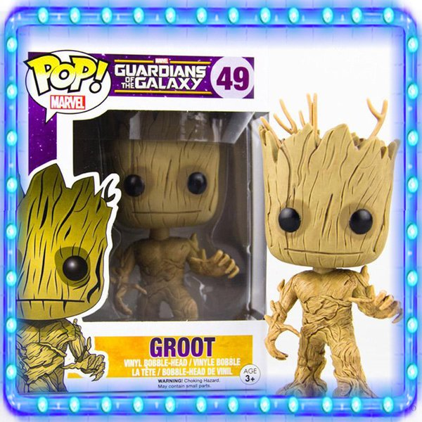 Christmas Groot Funko Pop.2019 Movies Guardians Of The Galaxy Vol 2 Marvel Hot Toys 13cm Funko Pop Groot Figure Toy Guardians Of Galaxy Vinyl Groot Toys Christmas From