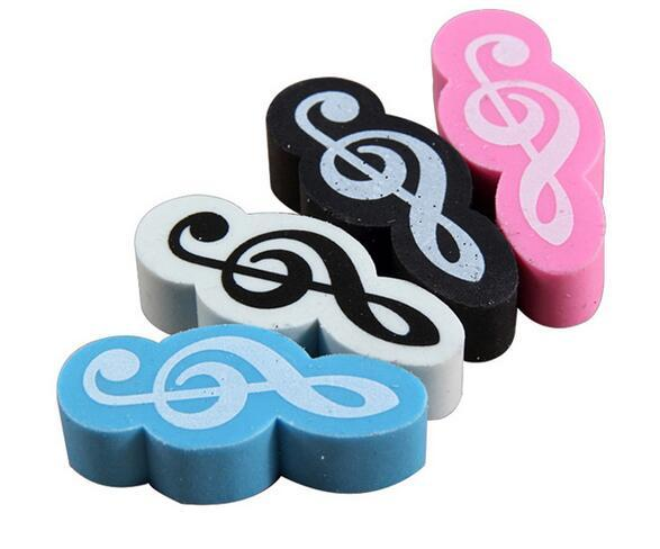 200pcs/lot Music Stationery Mini Style Music Eraser Music Gift DHL Free Shipping