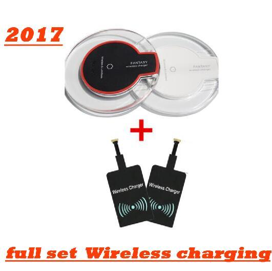 2017 Luxury Qi Wireless Charger Charging Pad Mini for android Samsung S6 S6 Edge for iPhone 6 6 PLUS HTC Nokia etc