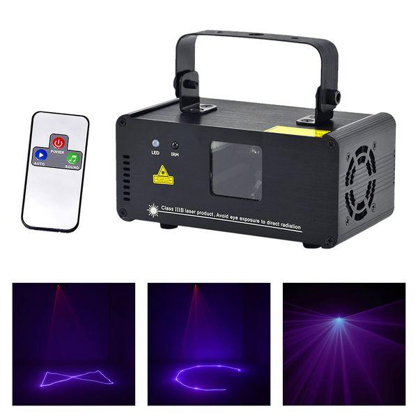 AUCD Mini Portable IR Remote 8 CH DMX Purple 150mW Laser Scanner Stage Lighting PRO DJ Party LED Show Projector Lights DM-V150