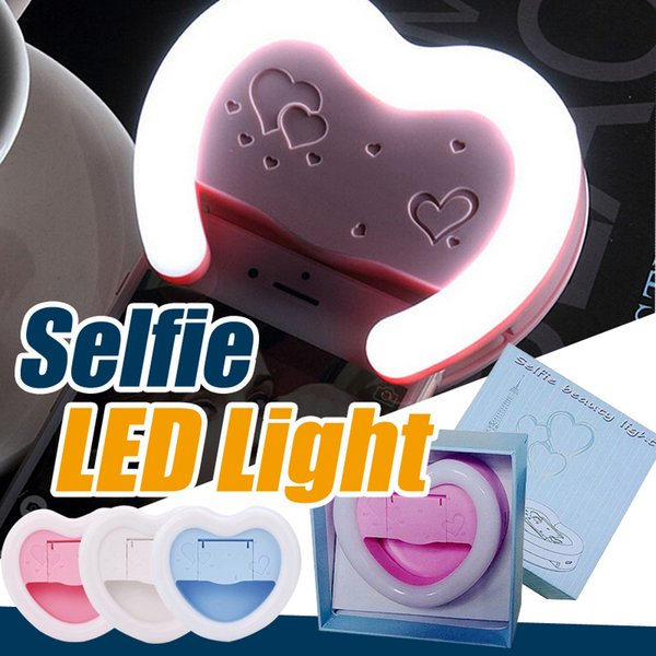 LED Selfie Anello Light Flash Spotlight Circle Round Fill in Light Cellulare Foto Camera Speedlite per iPhone 7 plus Samsung Universal