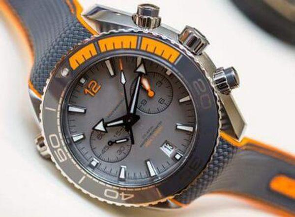 Üst Erkek Chronograph Kuvars İzle Erkekler Chronometre Usta 600 m Co Eksenel İsviçre Saatler Erkekler Dalış Spor Tarihi Profesyonel 007 Okyanus Saatı