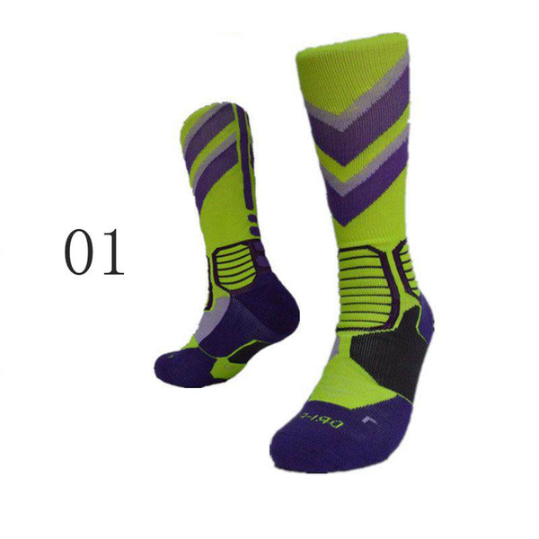 2017 Newest Basketball Socks Long Knee Athletic Sport Socks Men Fashion Compression Thermal Winter Socks Outdoor Sports Protective Gear 7 Co
