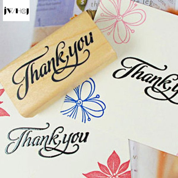 "Creative arts font ""thank you""&""Love you""wooden stamps diy Hand made decal stamps for scrapbooking Photo Album Craft gifts"