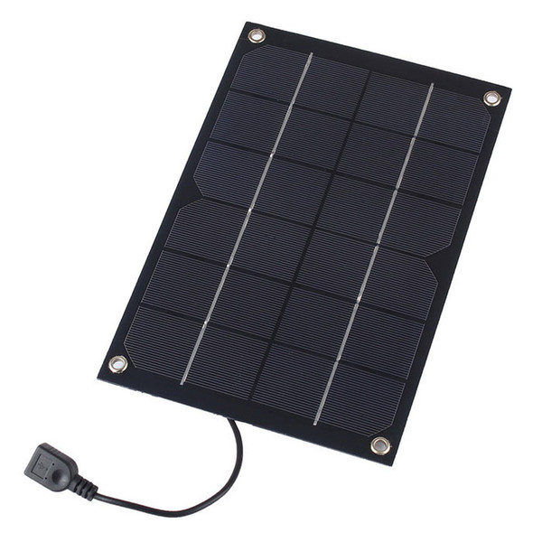 5pcs/lot 6W 5V Semi Flexible Solar Panel Monocrystalline Solar Cell with USB Output Regulator for Charging Smart Phone Power Bank