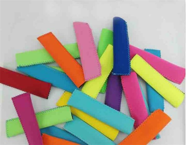 best selling Popsicle Holders Pop Ice Sleeves Freezer Pop Holders 15x4.2cm for Kids Summer Kitchen Tools 10 color