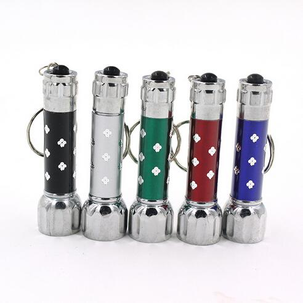 Niedrigster Preis Freies FEDEX 200pcs / lot RA 7 LED Mini-Taschenlampen-Fackel-Schlüsselketten-Schlüsselring-rotes grünes blaues weißes Keychain Freies Verschiffen