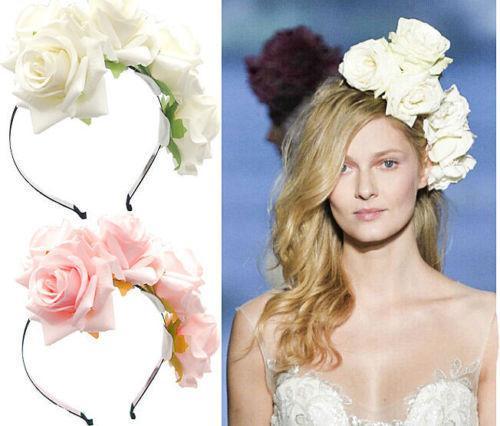 New Fashion cloth art Flowers Wedding Bridal Holiday Garlands Headband Wreath Jewelry 2017 For Women Pageant Prom Headdress Hair Accessories