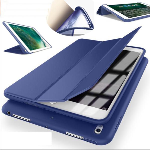 1PC nice smart soft silicone case for apple 2017 iPad air mini 1 2 3 4 5 pro 10.5 8 cover case