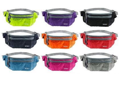 Wholesale- TEXU Waterproof Women Men Waist Packs Unisex Nylon Zip Bag Waist Pack Pouch Travel Belt Bag
