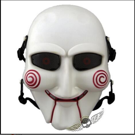 Top Grade Resin Scary Saw Masks Horror Movie Cosplay Props Adult Jigsaw Mask Party Fancy Dress CS Game Mask Outdoor Cosplay