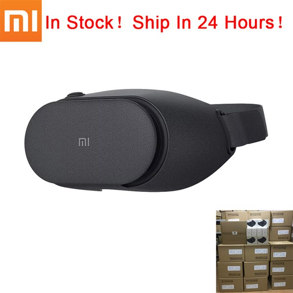Wholesale- Original Xiaomi VR Box Play 2 Mi 3D Virtual Reality Glasses PLAY2 Google Cardboard Millet VR Glasses For Android IOS Phones