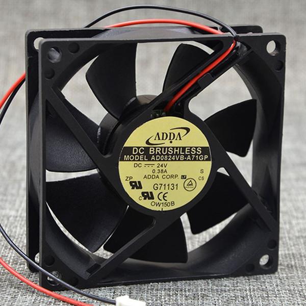 best selling ADDA AD0824VB-A71GP 8025 DC 24V 0.38A server inverter cooling fan