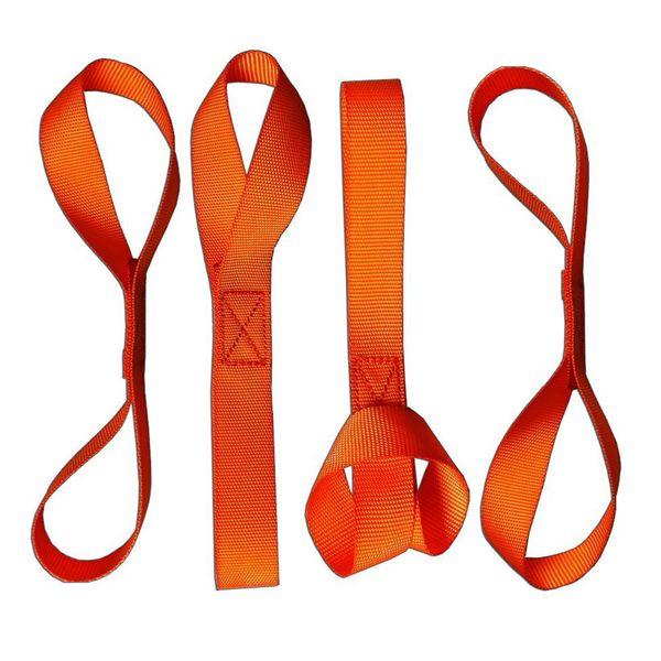 best selling ZOOKOTO Hot sale 4Pack Tcover Orange Heavy Duty Soft Loops Tie Down Extension Straps Motorcycle Motorbike ATV Tie