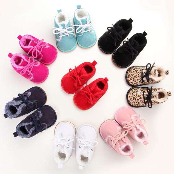 Großhandel New Suede Leather Mit Fell Solid Newborn Baby Schuhe ...