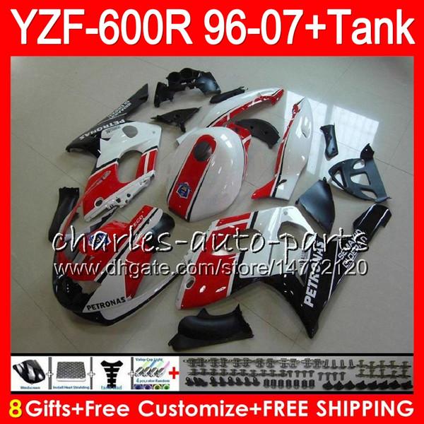 8 Geschenk 23 Farbe Für YAMAHA YZF600R Thundercat 96 97 98 99 00 01 53NO31 rot schwarz YZF-600R YZF 600R 1996 1997 1998 1999 2000 2001 Verkleidungssatz