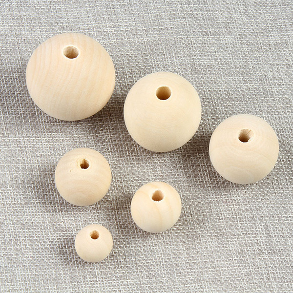 best selling 200pcs lot 4 6 8 10 12 14 16mm Nature Color Wooden Beads Round Lead-free Wood Beads For Jewelry Making DIY Bracelet Accessories