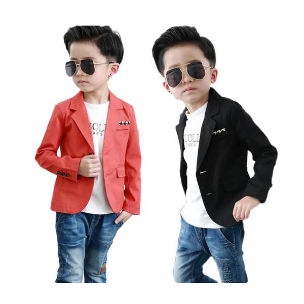 Chaqueta casera de la chaqueta del muchacho causal de la chaqueta del algodón del orangeblack de la capa para 2-10years muchachos cabrito niños ropa causal del juego de los cabritos calientes