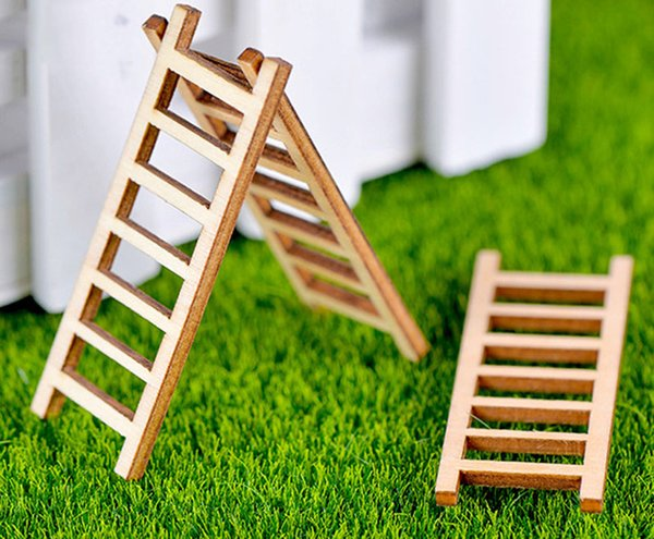 10pcs woody staircase stepped corridor Ladder Bonsai Tools Fairy Garden Decoration Miniatures Resin Terrarium Figurines Jardin
