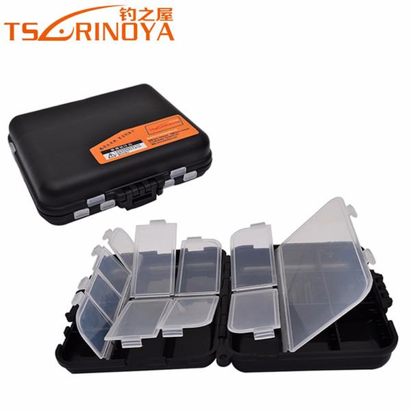 Großhandels-TSURINOYA Trulinoya 03 Angeln Box 11,5 cm * 9 cm * 3,5 cm Doppelschicht Hartplastik Angelgerät Aufbewahrungsbox Locken Zubehör Box