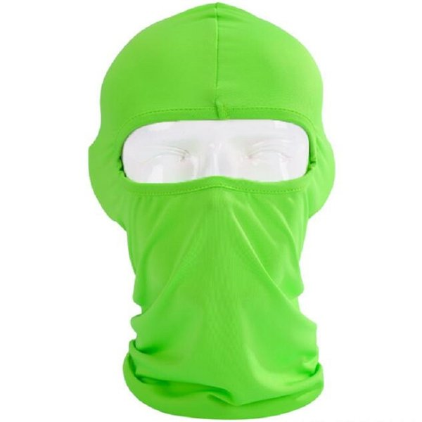 Wholesale Cycling Mask Lycra Balaclava Headwear Solid Face Mask Helmet Motorcycle Veil Cotton Full Face Neck Guard Masks Free Shipping