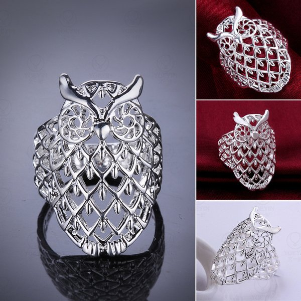 925 silver wedding ring Jewelry Rings scorpion crown owl Women Girl With Rhinestone opening Retro Ring In Europe And America Couples Ring