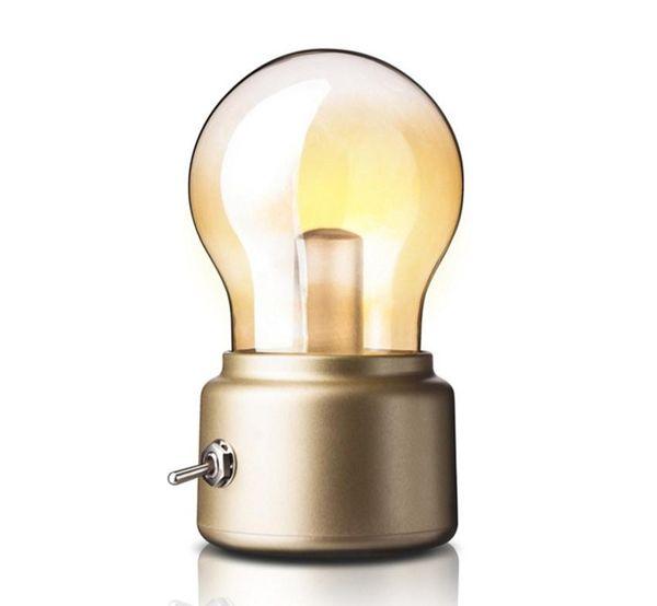 Retro retro lamp USB charging desk office lamp, decorative lamp reading review lamp Tu Hao gold and Retro black LLFA