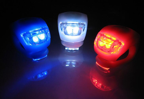 Silikon Fahrradbeleuchtung 2LED Radfahren Fahrrad Licht Gummi Rücklicht Vorne Hinten Flash Warnlicht Lampe Scheinwerfer Silikon lichter