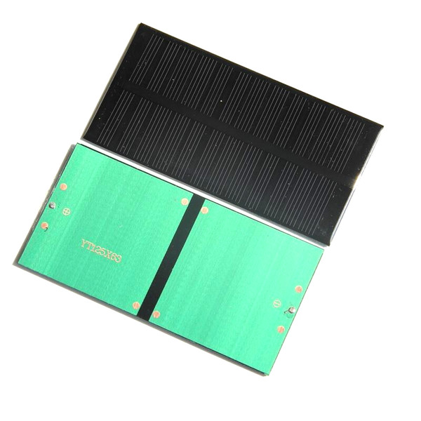 High Quality 1W 6V Mini Polycrystalline Solar Cell DIY Solar Panel Charger For 3.7v Batery Solar Module 125*63*3MM Epoxy 5pcsFree Shipping