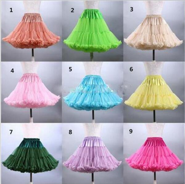 Auf Lager Reale Abbildungen Günstige Multi Farbe Kurzen Petticoat Für Frauen Party Kleider Hochzeit Zubehör Unterrock Krinoline jupon