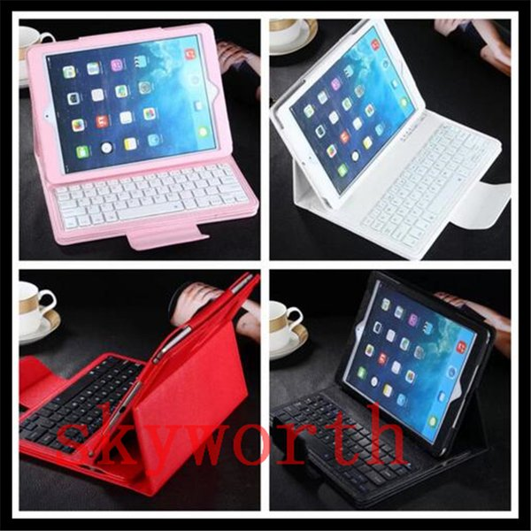 Removable Bluetooth Wireless Keyboard Leather Case for Ipad air2 mini 4 3 pro 9.7 10.5 2017 Galaxy tab S3 T820 T580
