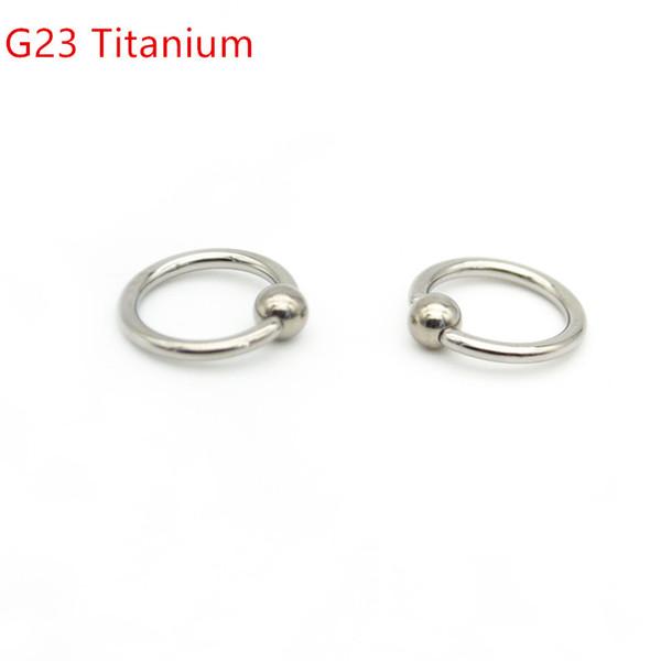 Grau 23 titanium bcc cativo anel de talão16g 8mm 10mm 12mm bola encerramento nariz nariz tragus orelha septo g23 body piercing jóias
