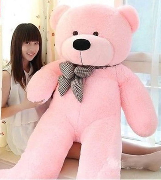 "Wholesale cheap Big Huge Giant 47""Stuffed Plush Teddy Bear Toy Animal Doll white brown pink/birthday gift/"