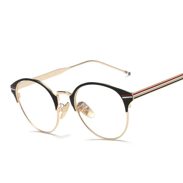 d2129d2ac9 Wholesale- Newest Oval Reading Eyeglass Frame Eyewear Men Women Vintage Computer  Myopia Eyeglasses Frame Brand Anti-blue light Lens Glasses