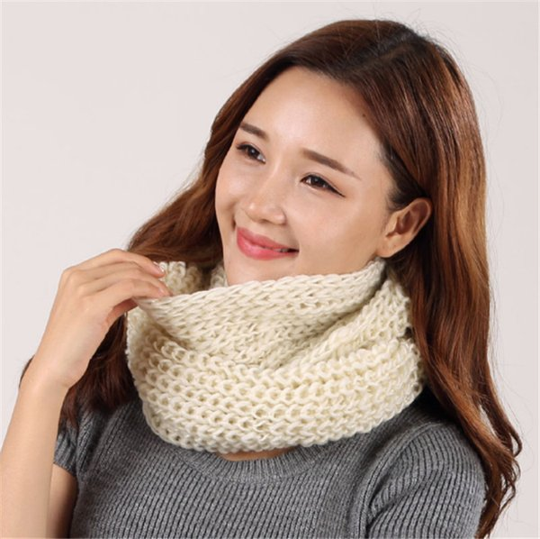 2017 Moda Nuevo Unisex Bufanda de Invierno de punto Bufandas Cuello Cuello Calentador mujer Crochet Loop mujeres Bufandas para dama