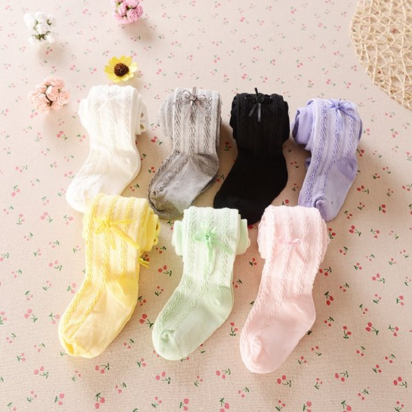 Wholesale 72pcs/lot Baby Girls Tights Pantyhose 7 Colors Children Clothes Girl Underpants Bottom Pants Stocking Trouser Sock Leggings