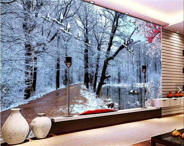 Custom 3d Wall Murals Wallpaper The Snow Non Woven 3d Wallpaper Walls  Living Room TV Part 41