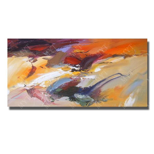 Free shipping large size cheap price hand painted abstract oil painting on canvas fabric for modern living room wall decor
