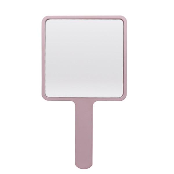 Top Square Shape One Side Regular Glass Hand Held Mirror Makeup Pocket  OB05