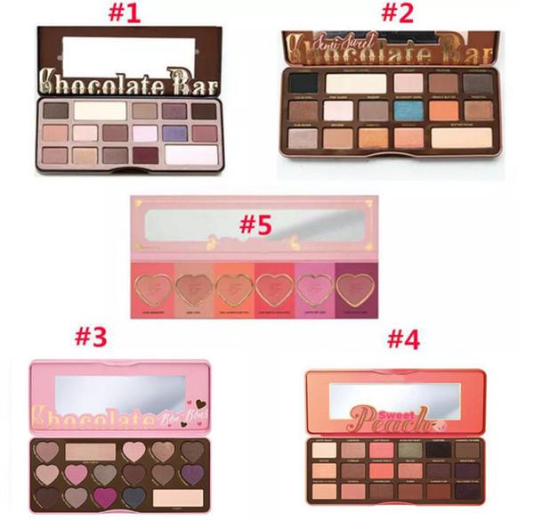 top popular HOT Makeup Chocolate Bar Eyeshadow palette semi-sweet bonbons sweet peach 16 Color Eye Shadow palette 24 pcs free dhl 2019