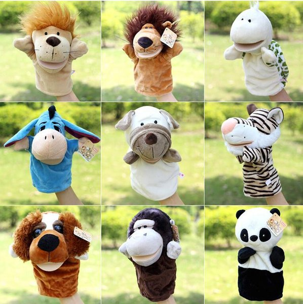 free shipping wholesale Hot sale super cute plush toy nici forest animal hand puppet for baby Story