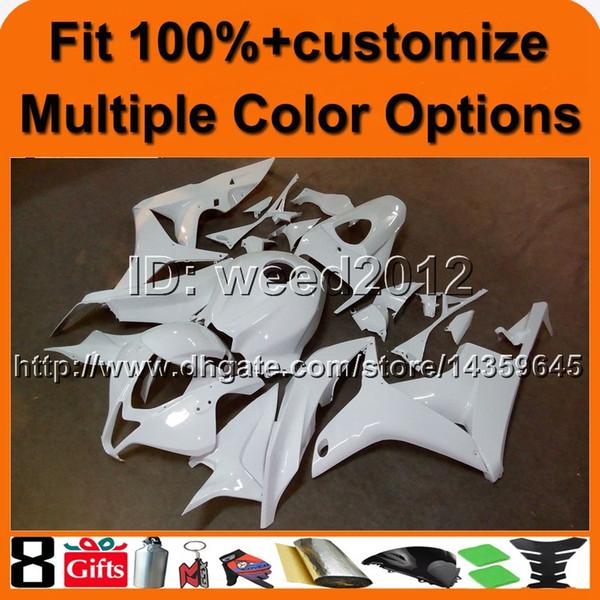 Manguito de inyección 23colors + 8Gifts WHITE para HONDA CBR600RR 2007-2008 CBR600RR 07 08 ABS Fairing