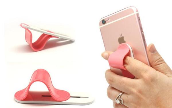 Держатель для мобильного телефона творческий держатель для кольца многофункциональный задняя вставка фиксированный кронштейн Smart Finger Grip Самостоятельная наклейка Держатель для телефона