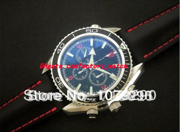 Top Quality Fashion Watches Luxury Eta Movement 7750 Chronometer Black Dial Automatic Chronograph Mens Men's Watch Watches